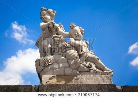 An image of a sweet children figure statue Bamberg Germany