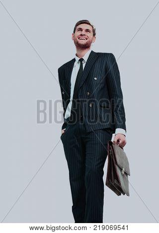 businessman standing on vertex
