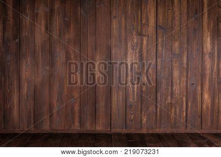 Wooden corner texture background, old brown board