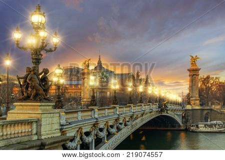 Bridge of the Alexandre III, Paris France