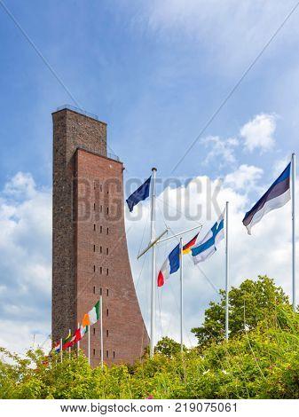 Laboe Naval Memorial near Kiel on Baltic Sea coast