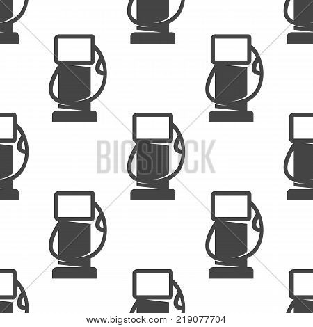 Gas station seamless pattern. Vector illustration for backgrounds