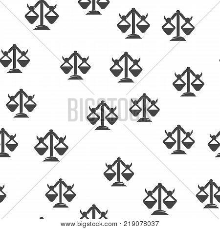 Libra seamless pattern. Vector illustration for backgrounds