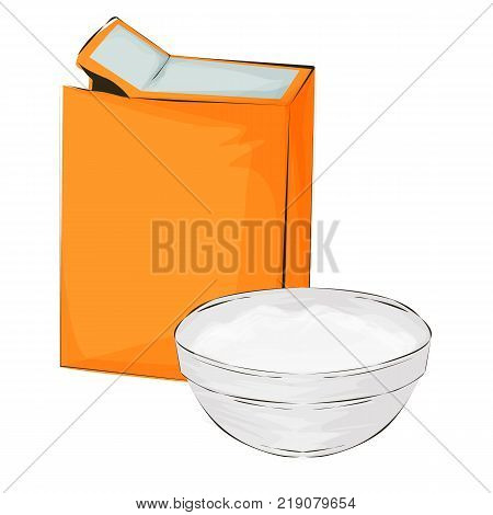 Baking soda vector illustration on a white background cartoon