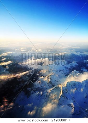 Alps, The highest peak, Mont Blanc, rises to a height of 15,771 feet (4,807 m).
