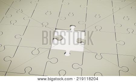 Grey Floor Without One Puzzle