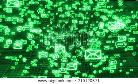 Flying Emails In Cyberspace