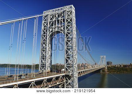 George Washington Bridge New York City - HDR view.