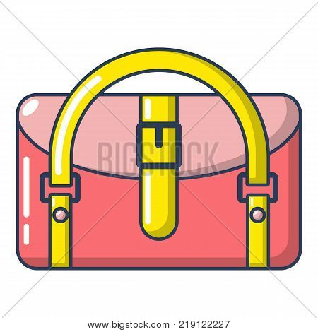 Travel bag destination icon. Cartoon illustration of travel bag destination vector icon for web