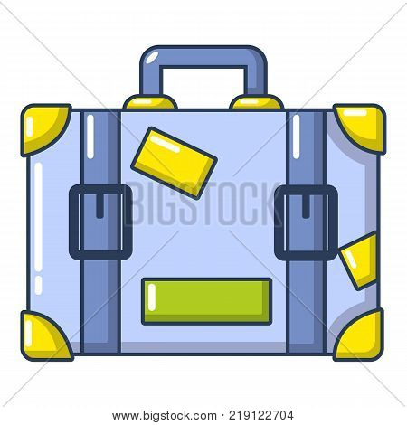 Travel suitcase icon. Cartoon illustration of travel suitcase vector icon for web