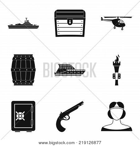 Combat icons set. Simple set of 9 combat vector icons for web isolated on white background