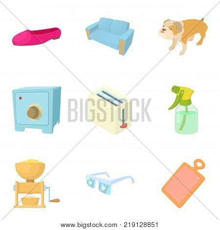 Excellent house icons set. Cartoon set of 9 excellent house vector icons for web isolated on white background