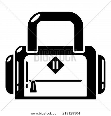 Travel bag handle icon. Simple illustration of travel bag handle vector icon for web