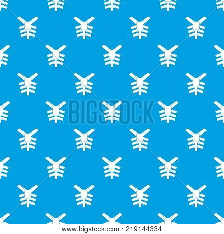 Human thorax pattern repeat seamless in blue color for any design. Vector geometric illustration