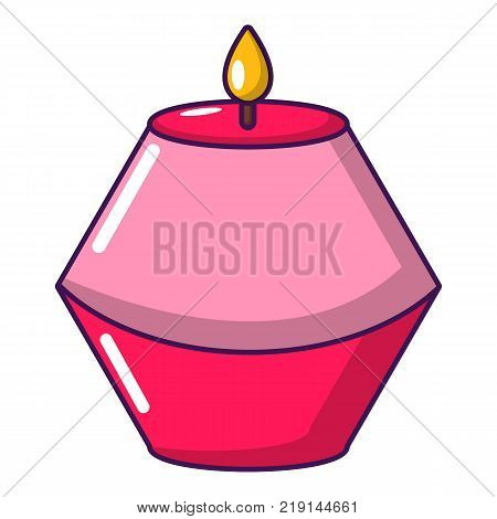 Candle aromatic icon. Cartoon illustration of candle aromatic vector icon for web