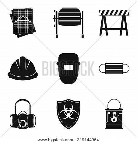 Specialist builder icons set. Simple set of 9 specialist builder vector icons for web isolated on white background
