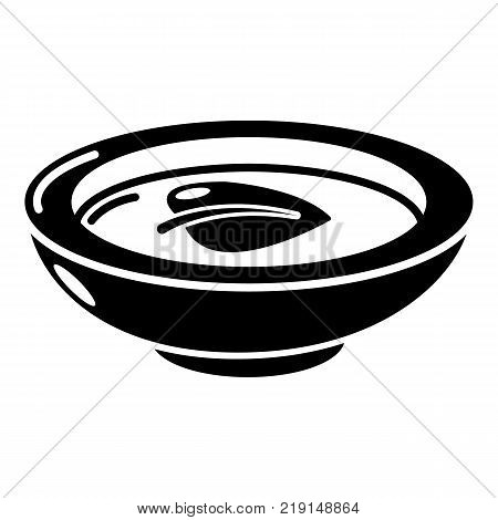Soy sauce plate icon. Simple illustration of soy sauce plate vector icon for web