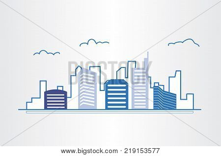 Modern Real Estate Of Architectural Building Design, City Scene, Logo Design Template, Corporate Bra