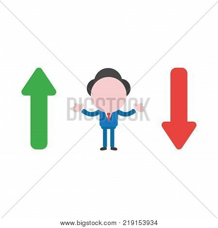 Vector Illustration Concept Of Faceless Businessman Character Pointing Closed Folder