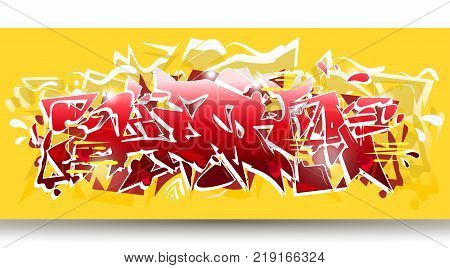 Yellow and red hip hop abstract background wildstyle,vector. Typography for poster,t-shirt or stickers. Text background