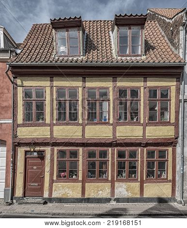 One of the many quaint buildings in the old town of Helsingor in Denmark.