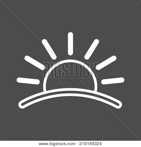 Sun Icon. Sunset Icon. Flat Icon Of Sun. Sun Eps. Vector Illustration 10