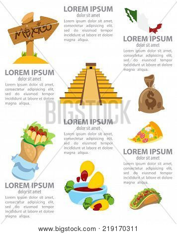 Infographic of Mexico, culture of Mexico, mexican food