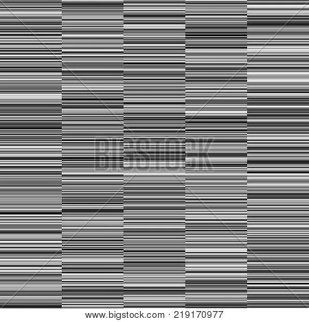Monochrome  Straight Horizontal Variable Width Stripes, Monochrome Lines Pattern, Horizontal Seamless, Straight Parallel Horizontal Lines, Fashion Geometric Monochrome Random Background