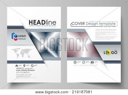 Business templates for brochure, magazine, flyer, booklet or annual report. Cover design template, easy editable vector, abstract flat layout in A4 size. Simple monochrome geometric pattern. Abstract polygonal style, stylish modern background.