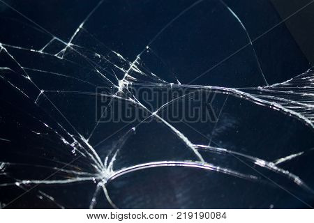broken touchpad with cracks texture. close-up  shot