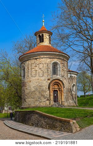 Rotunda chapel of St. Martin in Vysehrad, Prague, Czech Republic