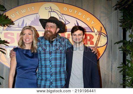 LOS ANGELES - DEC 20:  Chrissy Hofbeck , Ben Driebergen, Ryan Ulrich at the