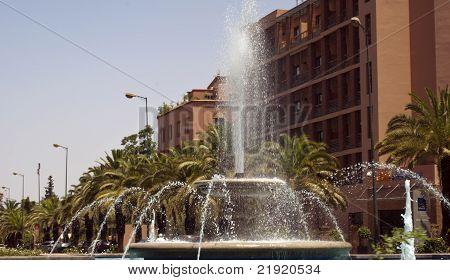 fountain in center city