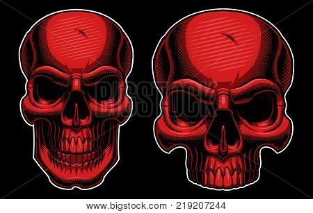 The art of half tone skull (on dark background) .