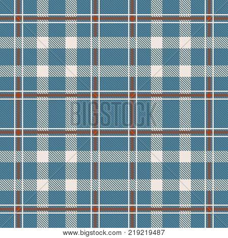 Tartan seamless pattern. Background texture for - plaid, tablecloths, clothes, shirts, dresses, paper, bedding, blankets, quilts and other textile products. Vector illustration.