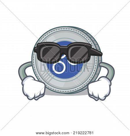 Supercool OmesiGo coin character cartoon vector illustration