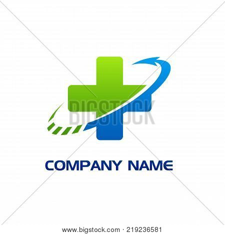 Healthcare cross abstract vector logo design template, letter s with cross Health concept, Pharmacy, Medicine