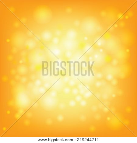 Light of gold bokeh for greeting Christmas and New Year celebration or some festival background.