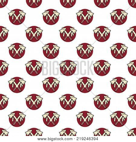 Tomahawk axe, indian color seamless pattern. Authentic design. Stock background, wallpaper