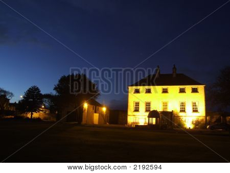 Banff Castle At Night