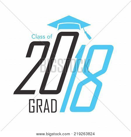 Class of 2018 Congratulations Graduate Typography Image Grad