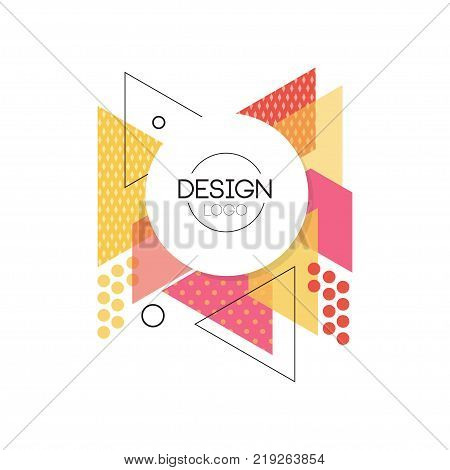 Design logo, colorful geometric element for brand, company identity, business logotype vector Illustration on a white background