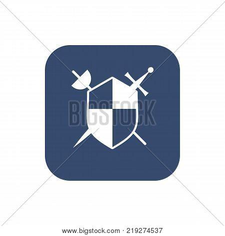 Shield icon, vector illustration. Flat design style