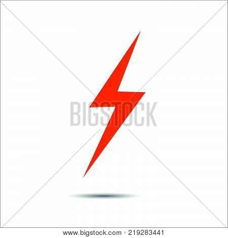 Lightning flat icons. Simple icon storm or thunder and lightning strike isolated. poster