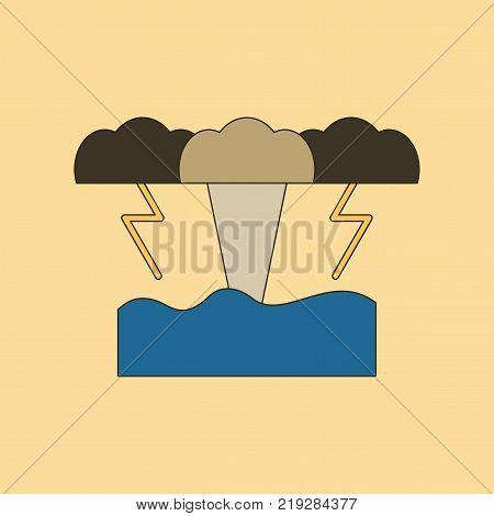 flat icon on stylish background nature tsunami
