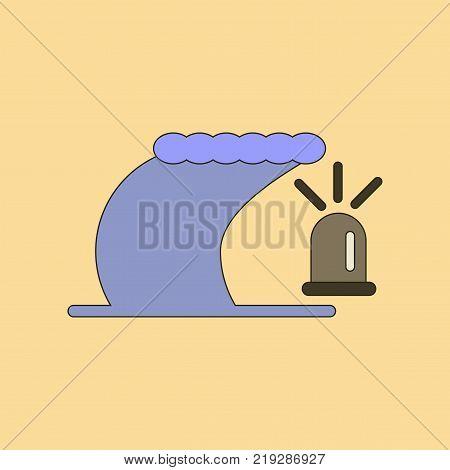 flat icon on stylish background tornado alarm lamp