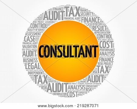 Consultant Word Cloud Collage Business Concept Background