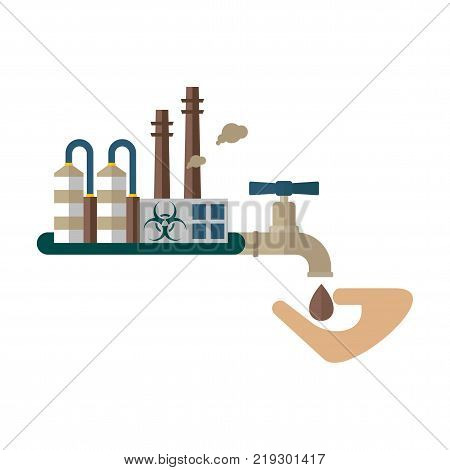 Water Pollution Concept