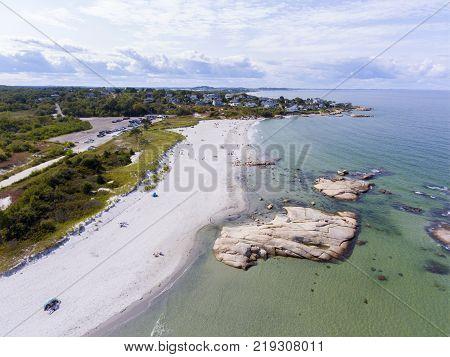 Wingaersheek Beach in Gloucester, Cape Ann, Massachusetts, USA.