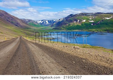 View from ring road around Iceland, WestFjords